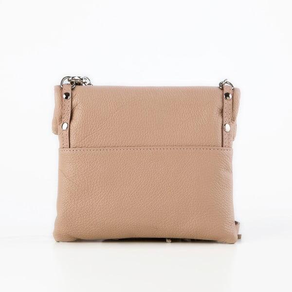 Skórzana torebka Roberto, pudrowa