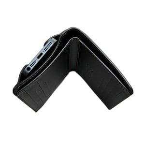Danny P. skórzany portfel Pocket z kieszenią na iPhone 5 Black