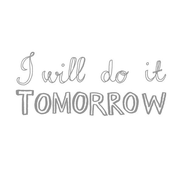 Poszewka na poduszkę Do It Tomorrow, 50x70 cm
