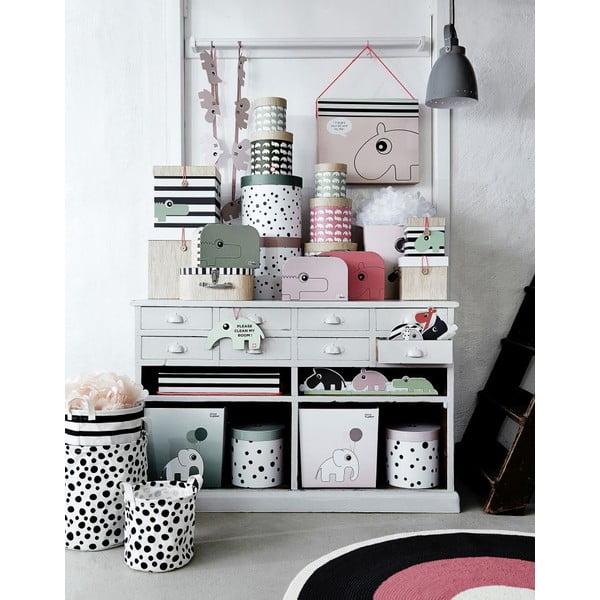 Zestaw 2 pudełek Happy Dots, różowy