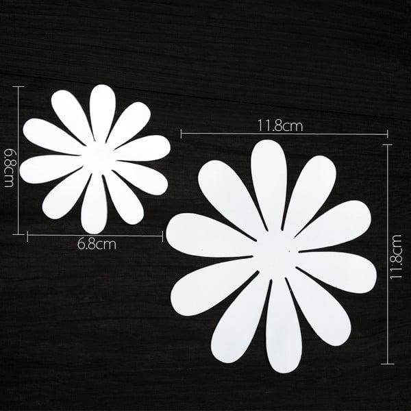 Zestaw 12 naklejek 3D Ambiance Flowers Chic Mirror