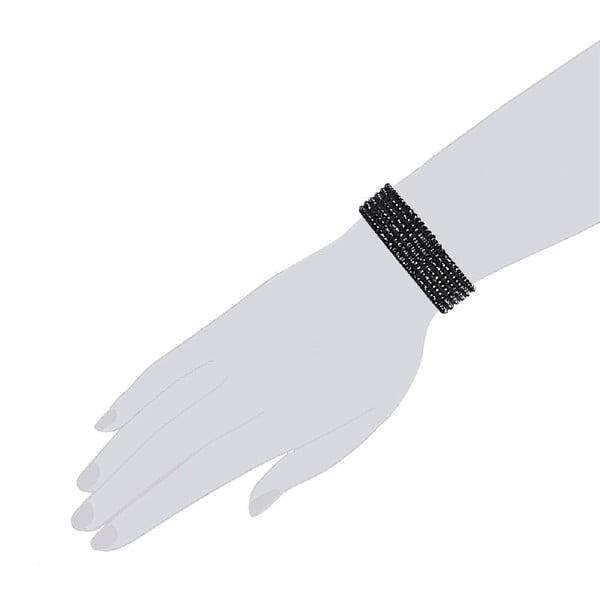 Bransoletka Simply Black, 17 cm
