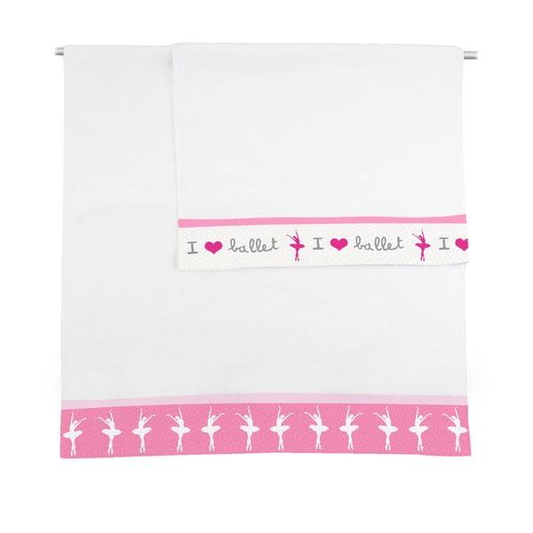 Zestaw 2 ręczników Ballerina, 50x100 i 70x140 cm
