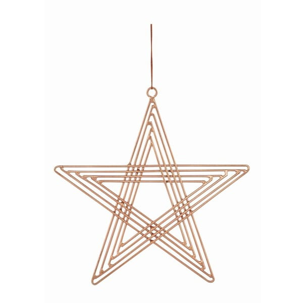 Zestaw 4 gwiazd wiszących Path Copper