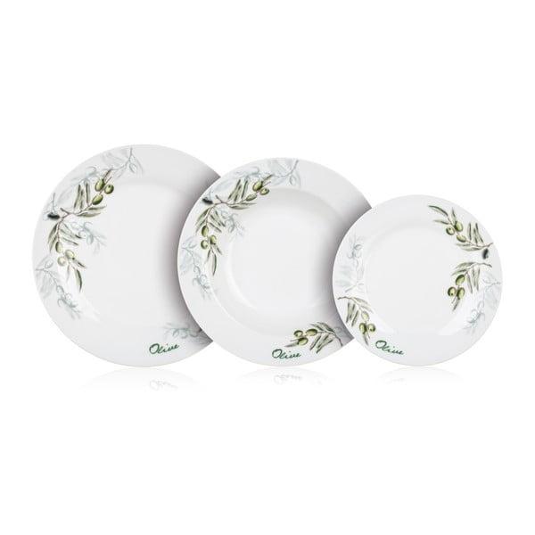 Komplet talerzy Banquet Olives, 18 sztuk