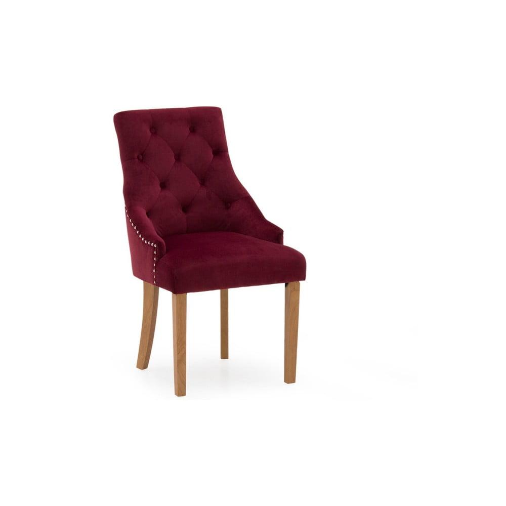 Zestaw 2 czerwonych krzeseł do jadalni VIDA Living Hobbs