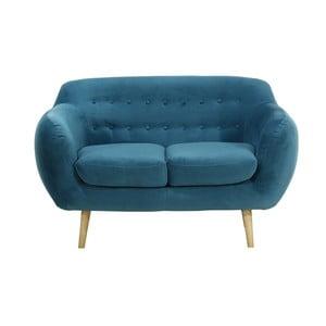 Granatowa   sofa dwuosobowa Wintech Indigo Victoria