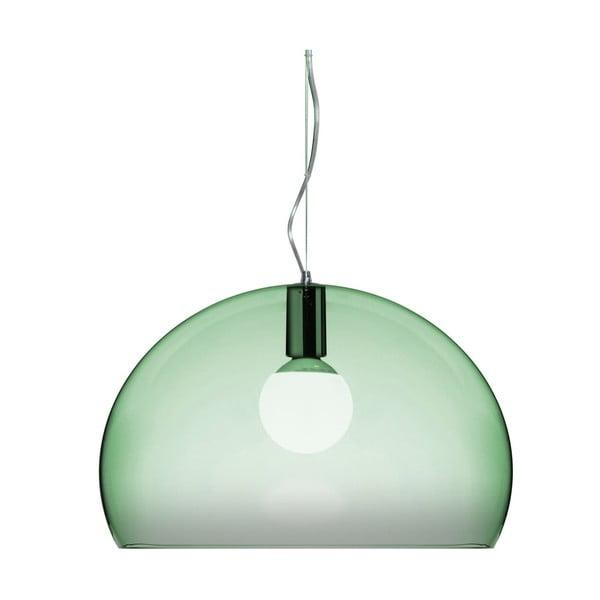 Jasnozielona lampa wisząca Kartell Fly