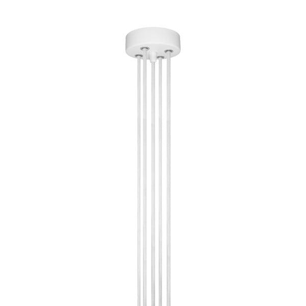 Biała pięcioramienna lampa wisząca z miedzianą oprawką Bulb Attack Cero Group