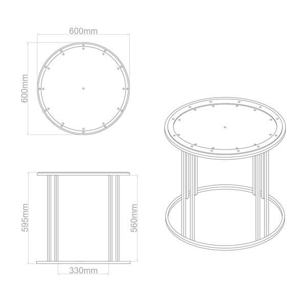 Stolik okrągły wysoki Clock Face