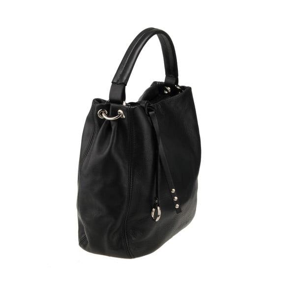 Skórzana torebka Agena, czarna