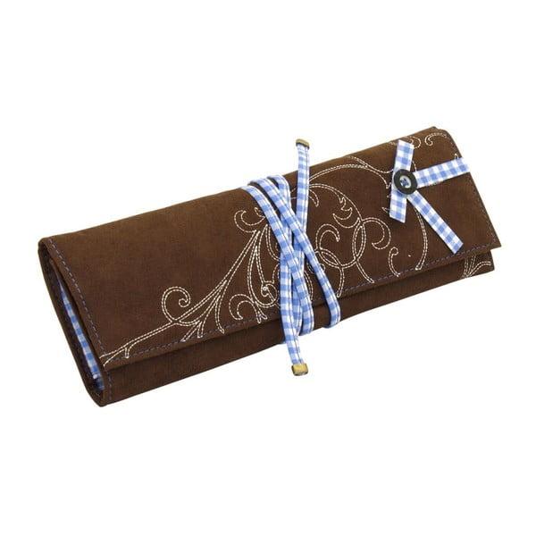 Szkatułka na biżuterię Roll Bavaria Brown/Blue, 27x9,5x3 cm