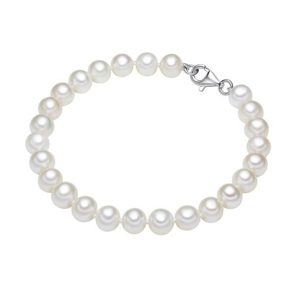 Perłowa bransoletka Helia, długość 17 cm, białe perły