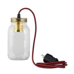 Lampa JamJar Lights, bordowy okrągły kabel