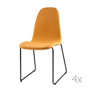 Zestaw 4 żółtych krzeseł sømcasa Helena