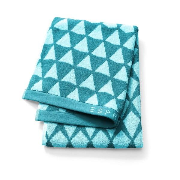 Niebieski wzorzysty ręcznik Esprit Mina, 50x100 cm