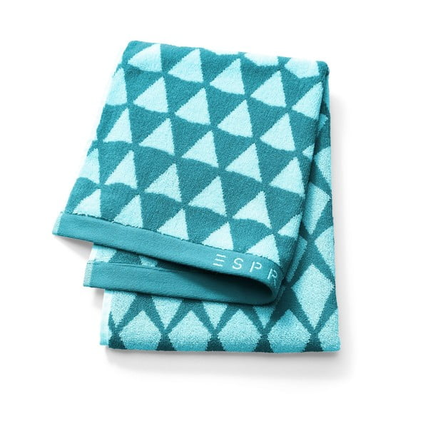 Niebieski ręcznik Esprit Mina, 70x140 cm