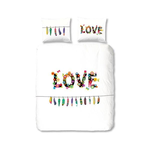 Pościel bawełniana Muller Textiel Flower Love, 135x200 cm