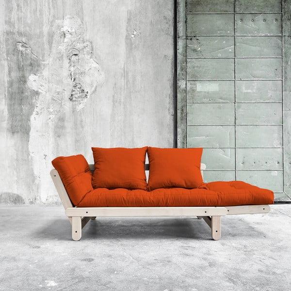 Sofa rozkładana Beat Beech/Orange