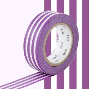 Biało-fioletowa taśma dekoracyjna washi MT Masking Tape Lignes