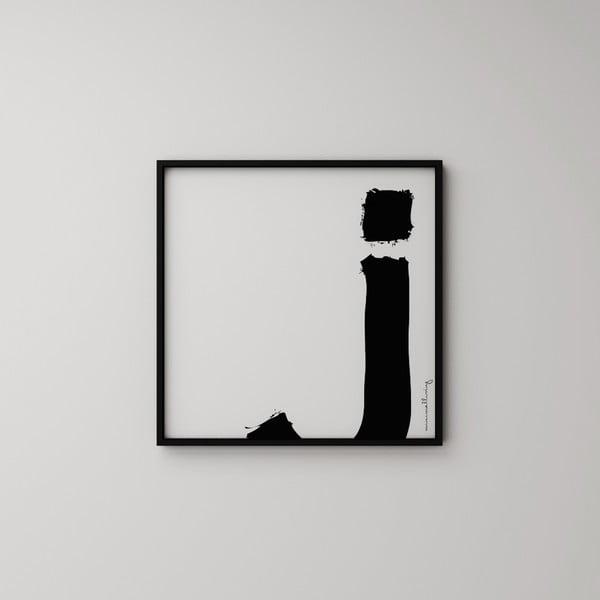 Plakat Litera J, 50x50 cm