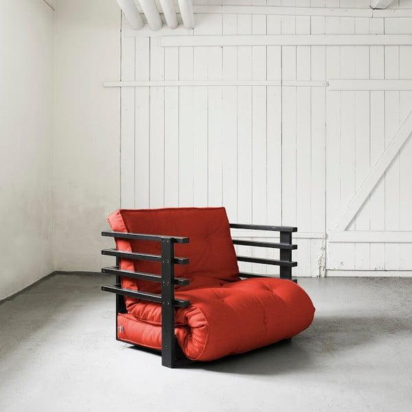 Fotel rozkładany Karup Funk Black/Red