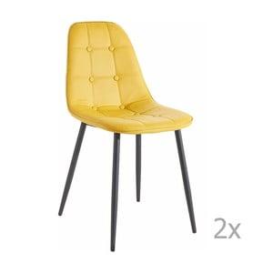 Zestaw 2 żółtych krzeseł 13Casa Dakota