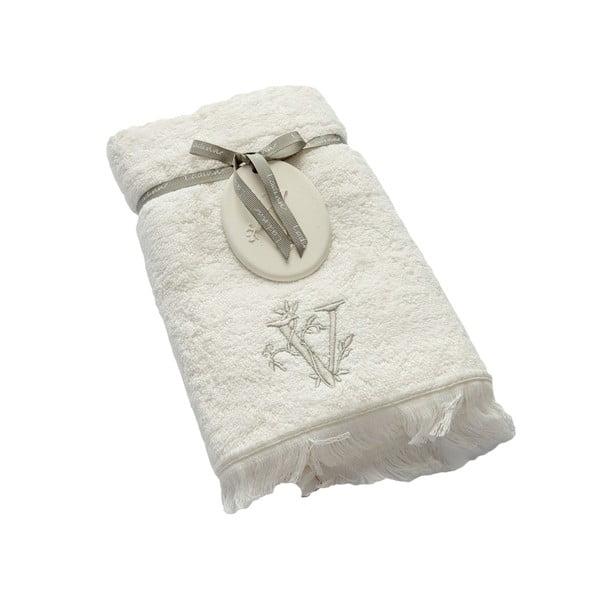 Ręcznik z inicjałem V, 50x90 cm