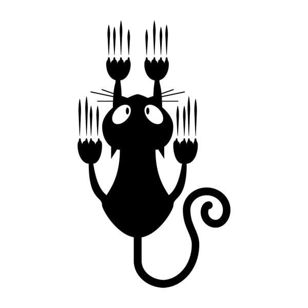 Naklejka Sliding Cat