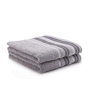 Komplet 2 ręczników Hugo Grey, 50x90 cm