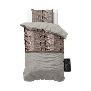 Pościel z mikroperkalu Sleeptime Laces, 140x220 cm
