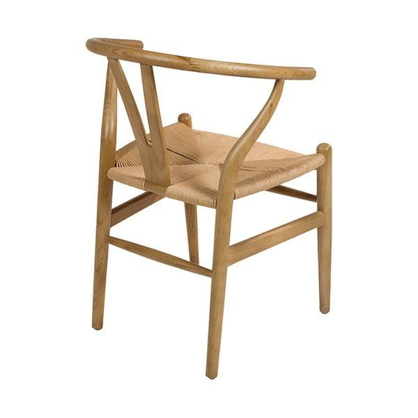 Krzesło do jadalni z drewna wiązu Santiago Pons Natural