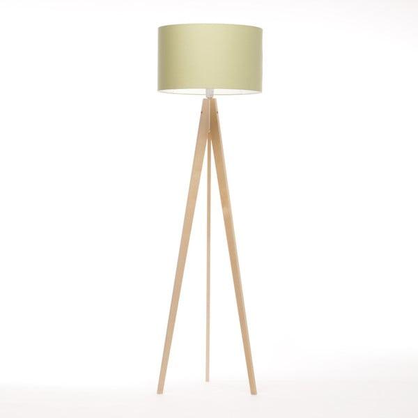 Zielona lampa stojąca Artist, brzoza, 150 cm