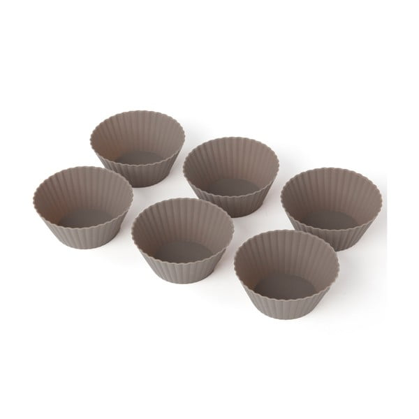 Zestaw 6 silikonowych foremek do muffinów Sabichi Cone