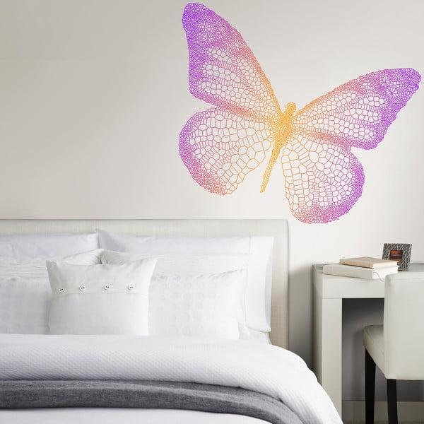 Naklejka na ścianę Tęczowy motyl, 50x70 cm