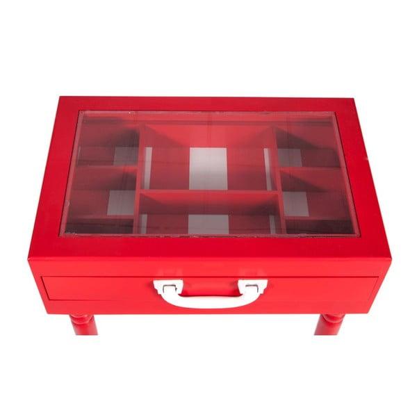 Konsolka Diva Red, 45x32x52 cm