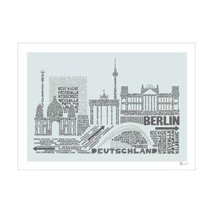 Plakat Berlin Grey&Grey, 50x70 cm