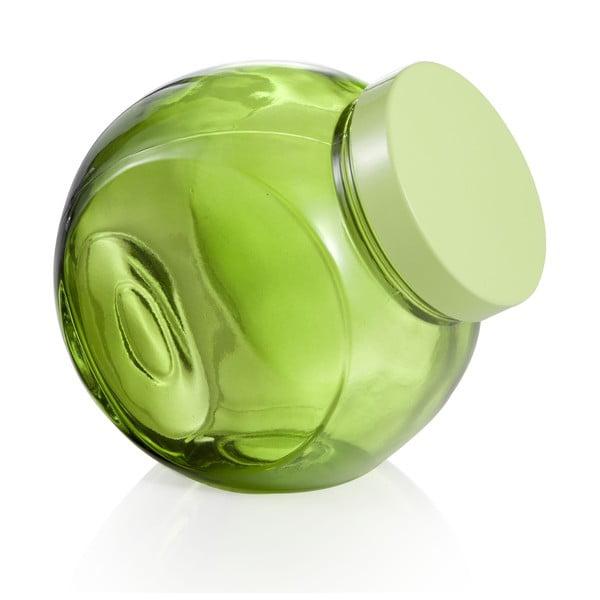 Szklany pojemnik kuchenny 16x17 cm, zielony