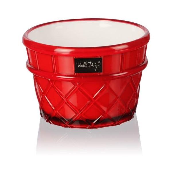 Pucharek deserowy Livio, 266 ml, czerwony