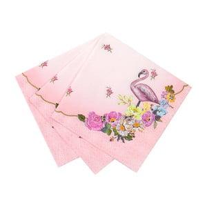 Zestaw 20 serwetek papierowych Talking Tables Flamingo
