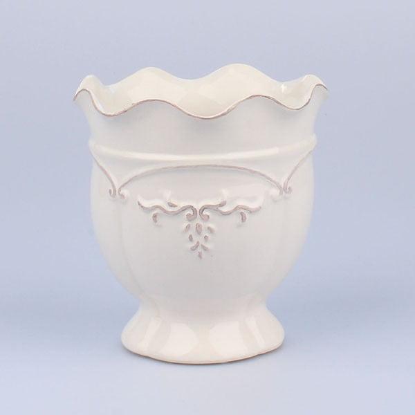 Wazon Antic White, 16x17 cm