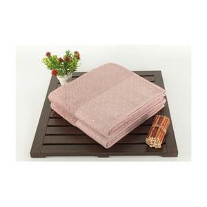 Zestaw 2 różowych ręczników Patricia, 50x90cm