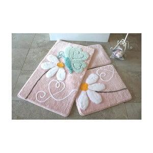 Zestaw 3 dywaników łazienkowych Alessia Ponte Pink