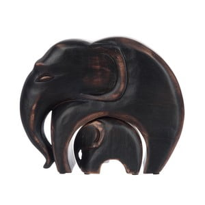 Zestaw 2 figurek Brown Elephants