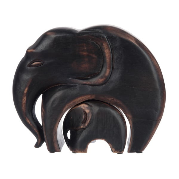 Zestaw 2 figurek Brown Elephants