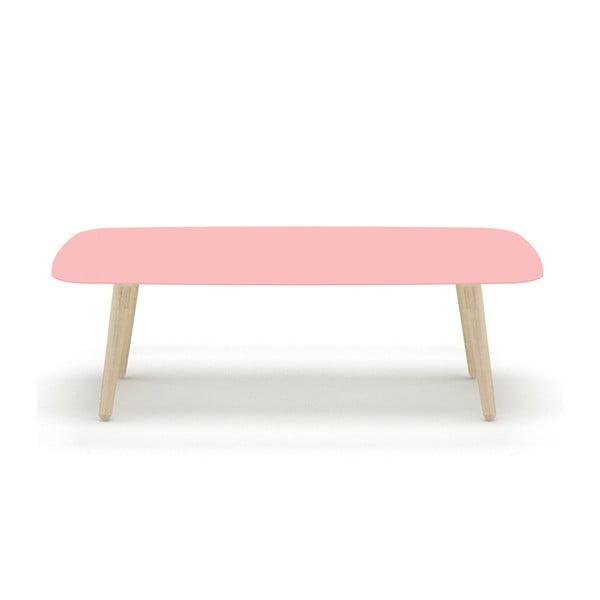 Różowy stolik MEME Design Nord Rettangolare