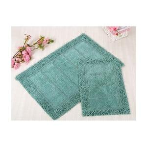 Zestaw 2 niebieskich dywaników łazienkowych Irya Home Vesta, 60x100 cm i 40x60 cm