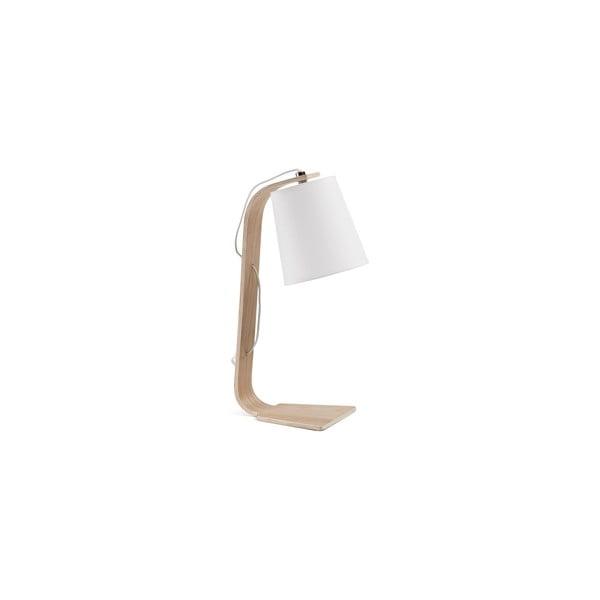 Biała lampa stołowa La Forma Percy