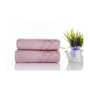 Zestaw 2 ręczników Kumsal Powder, 50x90 cm