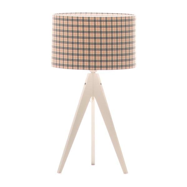 Lampa stołowa Artist Checks/White, 65x33 cm